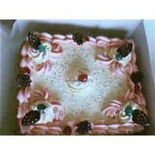 Aardbei taart Code:109   28 cm  1 liber