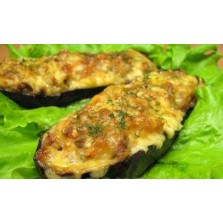 Gevulde aubergine  (berehijn jena) per halve (vegetarish)